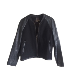 Vestes en cuir Sandro Femme   articles tendance - Videdressing 2ea667cd063