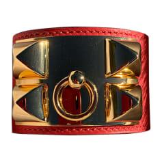 Braccialetto HERMÈS Collier de Chien Rosso, bordeaux