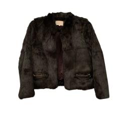 2ea352aac5b1 new in  Blouson, veste en fourrure SANDRO Noir