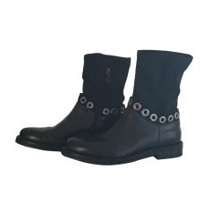 Bottines & low boots plates FABI Noir