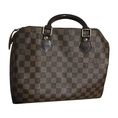 new in  Sac à main en cuir LOUIS VUITTON Speedy Marron 6ec94385d95