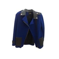 Manteau MAJE Bleu, bleu marine, bleu turquoise