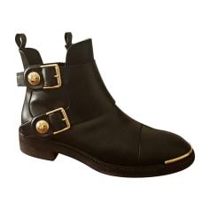 Bottines & low boots motards LOUIS VUITTON Noir