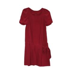 Robe courte IRO Rose, fuschia, vieux rose