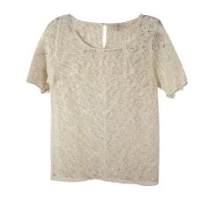 Top, t-shirt SANDRO Bianco, bianco sporco, ecru