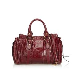 Leather Handbag MIU MIU Red