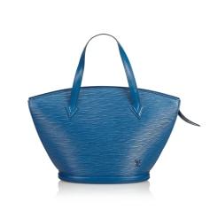 Leather Shoulder Bag LOUIS VUITTON Blue