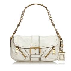 Leather Handbag PRADA White