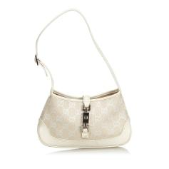 Leather Shoulder Bag GUCCI White