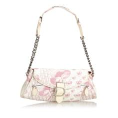 Leather Handbag DIOR White
