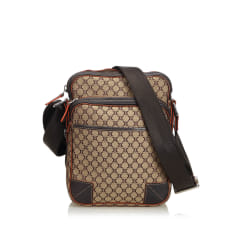 Leather Shoulder Bag CÉLINE Brown