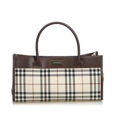 Leather Handbag BURBERRY Brown