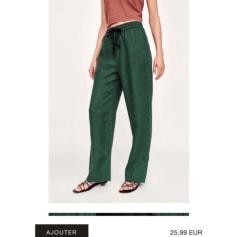 f7d735fe4f24 Pantalons Zara Femme Lin   articles tendance - Videdressing