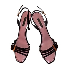 Sandales à talons LOUIS VUITTON Noir