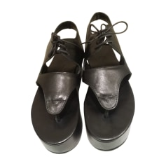 Sandales compensées YOHJI YAMAMOTO Noir