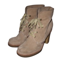 Wedge Ankle Boots SEE BY CHLOE Beige, camel