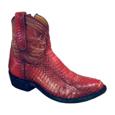 Cowboy Ankle Boots MEXICANA Red, burgundy