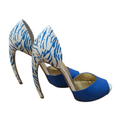 Peep-Toe Pumps WALTER STEIGER Blue, navy, turquoise