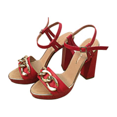 Heeled Sandals DSQUARED Red, burgundy
