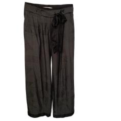 Pantalon large MARITHÉ ET FRANÇOIS GIRBAUD gris et noir