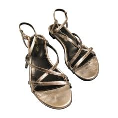 Sandales plates  SERGIO ROSSI Argenté, acier
