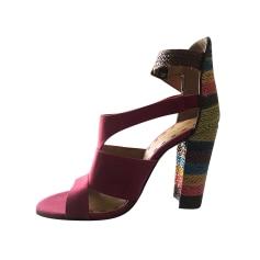 Sandales à talons NINE WEST Rouge, bordeaux