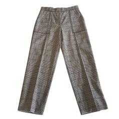 Pantalon droit SANDRO Gris, anthracite