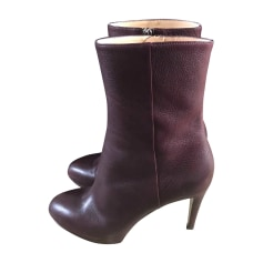 High Heel Ankle Boots SERGIO ROSSI Red, burgundy