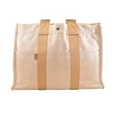 Stofftasche groß HERMÈS Weiß, elfenbeinfarben