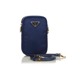 Schultertasche Leder PRADA Blue
