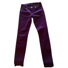 Skinny Jeans 7 FOR ALL MANKIND Violett, malvenfarben, lavendelfarben