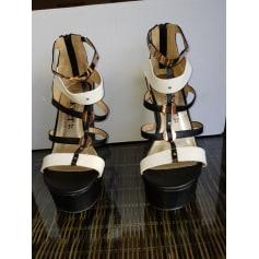 en soldes taille 7 recherche de véritables Sandales compensées Closer By Chaussea Femme : Sandales ...