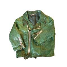 aaf35e0e02fa4 Vestes en cuir Femme Vert de marque & luxe pas cher - Videdressing