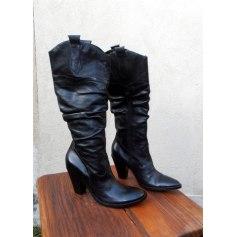 Lavorazione Artigiana Absatzstiefeletten Braun Damen Schuhe