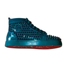 De Chaussures Cuir Verni MarineTurquoise BleuBleu Homme A3qc54RLjS