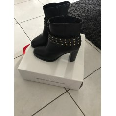 a8a9ad40fb42de Bottines & low boots Texto Femme Cuir : articles tendance - Videdressing