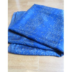 Silk Scarf SUD EXPRESS Blue, navy, turquoise