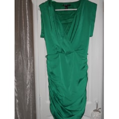 Robe courte MANGO Vert