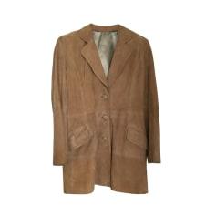 f870a3dcc8c16 Manteaux & Vestes Femme Daim Beige, camel de marque & luxe pas cher ...