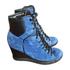 5e533e9989e2de Bottines & low boots compensées Femme de marque & luxe pas cher ...