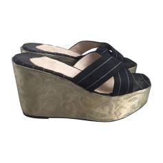 bas prix f0476 857fc Sandales compensées Christian Louboutin Femme : Sandales ...