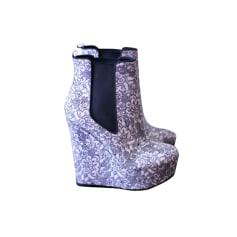 Bottines & low boots à compensés ASOS Noir