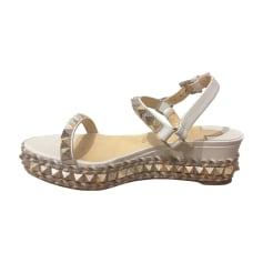 Sandales Compensées Louboutin Christian FemmeArticles Luxe kOZiXPu