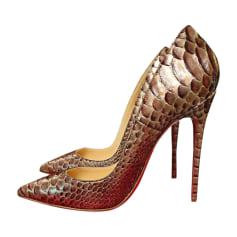 Nouveaux produits d600a 08285 Escarpins Christian Louboutin Femme Doré, bronze, cuivre ...