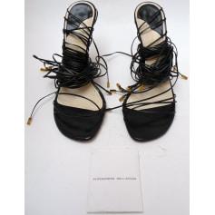 Sandales à talons ALESSANDRO DELL'ACQUA Noir