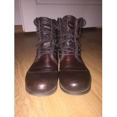 grand assortiment meilleures offres sur à bas prix Bottines & low boots plates Bunker Femme : Bottines & low ...