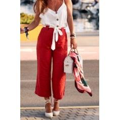 pantalon lin femme zara
