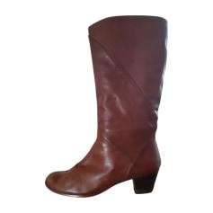 sehr Zustand guter braun Leder 37,5 T BAXXO Stiefel