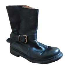Bottines & low boots motards Burberry  pas cher