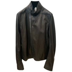 Leather Zipped Jacket Rick Owens